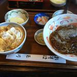玉川 そば店 - カツ丼とお蕎麦のセット