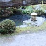 比良山荘 - 鯉が泳いている