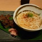 天の幸山の幸 - コース)押し寿司と稲庭うどん