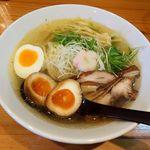 45968469 - 麺や七福(汐ラーメン-壱)※壱はチャーシューが鶏モモ肉です/クーポンで煮玉子トッピング
