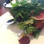 45971085 - さいたまヨーロッパ野菜がブーケみたいに盛られています