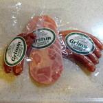 Grimm - 猪ソーセージ100g494円、ビアシンケン100g525円、ケーゼブルスト100g370円