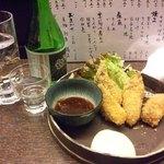 設楽 - やっぱ牡蠣フライはこでなくっちゃ(3個くらい食べちゃった…)