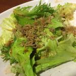 長州屋 - ジャコの野菜サラダ