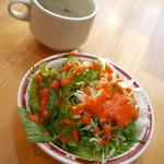 インディアンダイニング プラクリティ - セットのスープとサラダ