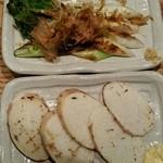 Kabura - 焼き物2品、白ネギ1本・長芋