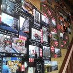 フランス食堂 フーヴェール - 階段に貼ってある写真をゆっくりご覧ください