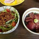 まーむ - 和風ジャージャー麺とまぐろ丼セット