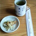鳥ぎん - お茶と漬物