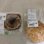 パン工房るりのパン - 料理写真:メロンパン皮と思って食べたらビックリしたビスチョコと起死回生の栗タルト