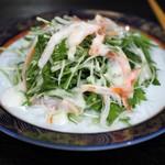 三好 - ズワイガニと水菜のサラダ