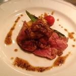 アポンテ - 鴨胸肉とフォアグラのソテー マルサラ酒のソース