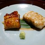 豪龍久保 - 宍道湖産の天然鰻(蒲焼、白焼き)