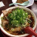 新福菜館 - 料理写真:中華そば並 ネギ多め もやし入り