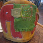 ティーハウス ムジカ - '10/07ポットカバー 赤い象さん