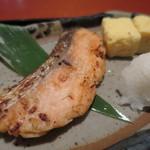 45990869 - 鮭の西京焼きと玉子焼きアップ