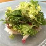 タブリエ - 【2015.12】山口萩産のカワハギのサラダ,ドレッシングが美味しい