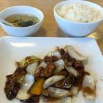 中華ごはん かんざし - 黒酢の酢豚ランチセット
