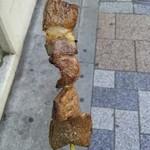 中野・丸十精肉店 - 黒毛和牛串