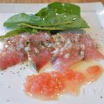 スペイン炭火焼料理 エル フォゴン - 2015/12 ブリのカルパッチョ カプリチョランチ(2,315円)