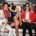 46001767 - エルビス・プレスリー、レディー・ガガ、マイケル・ジャクソン のそっくりさんたち