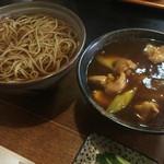 手打そば常陸屋 - 料理写真:かけそば・小カレー丼セット(850円)★★★☆☆
