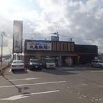 丸亀製麺 - 飯塚の郊外の国道沿いにあります