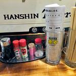 港釧路の炉端焼き 虎や - 卓上に常備された調味料類(2015年12月)