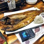 港釧路の炉端焼き 虎や - 釧路産しまホッケ特大(2015年12月)