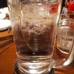南九州産黒毛和牛 焼肉ホルモン 島津 - 焼酎水割り