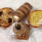 46009107 - クロッカン、スイートポテトのパン、モンブランデニッシュ、生コロネ