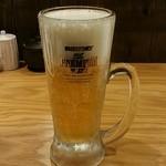 泳ぎイカ 九州炉端 弁慶 - 生ビール