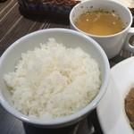 スタンド サシャ - ライス、スープ