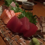 The Kitchen 喰なべ - 刺身(3種盛り サーモン・マグロ・ブリ)