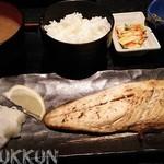 46018844 - 選べるお魚定食 800円 (サバの塩焼)