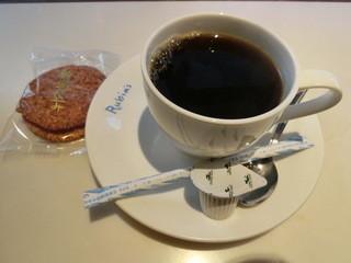 ルビンズコーヒー - ブレンドコーヒー250円、煎餅20円