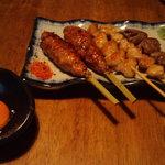 四季菜・炭火Dining 樂 - 焼き鳥各種その1