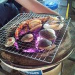 すず休憩所 - 料理写真:海老、大あさり、あさり、はまぐり