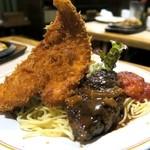 キッチン・カロリー - Cセット¥780(ライス・スープ付) チキンカツ・ハンバーグ・白身魚トマトソース