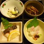まつ井 - 五菜のうち四菜(2100円セット)