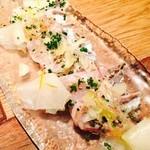46030789 - 太刀魚のカルパッチョ♫炙ってますよ!
