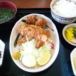 伊豆中ばんばん食堂 - ミックスフライ定食☆1280円♪