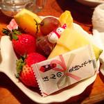 てっちゃん - サービスのフルーツ