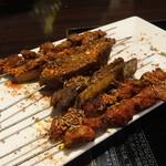 46036515 - 串焼き3種(ラム肉串焼き、ラム筋焼き、ラムスペアリブ焼き)