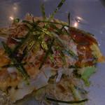 海老名ぱすたかん - ミックス焼き(食べている途中でいろいろ追加)