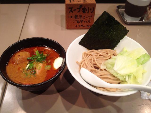 つけ麺 五ノ神製作所 - 海老つけ麺トッピングモッツァレラチーズ