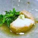 割烹・蕎麦 波と風 - 海老芋の揚げ出し