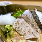 割烹・蕎麦 波と風 - 明石の鰆、墨烏賊