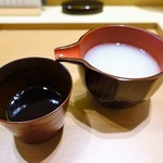 割烹・蕎麦 波と風 - 蕎麦湯