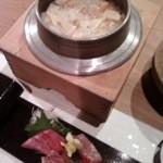 Ichiyamarou - 炊きあがった釜飯とお刺身